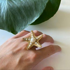 Kate Spade Starfish Statement Ring ⭐️